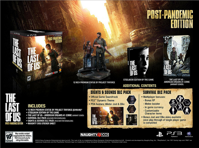 The Last of us Sony PlayStation 3 ps3 Naughty Dog USA Europe